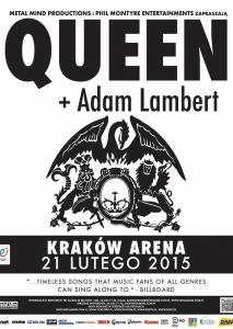 QUEEN+ADAM LAMBERT 21.02.2015 KRAKÓW ARENA